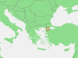 Localización del estrecho de los Dardanelos.