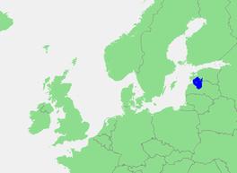 Localización del golfo de Riga (mar Báltico)