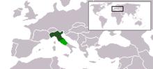 Repubblica Sociale Italiana - Localizzazione