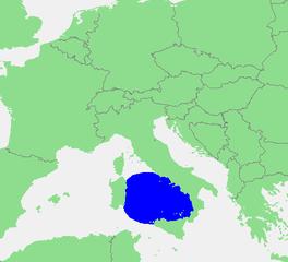 Localización del mar Tirreno (habitualmente, se considera que el mar se extiende por el norte al menos hasta la isla de Elba).