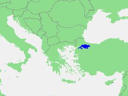 Localización del mar de Marmara.