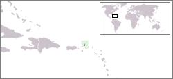 Ubicación de las Islas Vírgenes Británicas