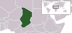 Kart over جمهورية تشادRépublique du Tchad