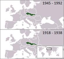 捷克斯洛伐克位置图