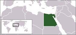 Kart over Gumhuriyat Misr al-Arabiyahجمهوريّة مصر العربيّة