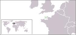 Poloha Guernsey
