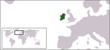 Regno d'Irlanda - Localizzazione