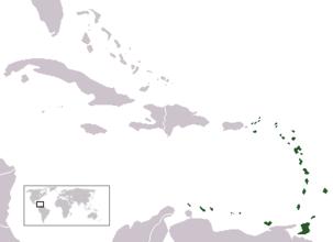 Localización de las Antillas  Menores