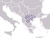 Bordes aproximados de la zona conocida como Macedonia durante la dominación otomana