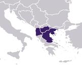 Bordes aproximados de la provincia de Macedonia, durante la dominación romana