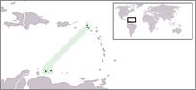Ubicación de Antillas Neerlandesas (hasta el 10 de Octubre de 2010)