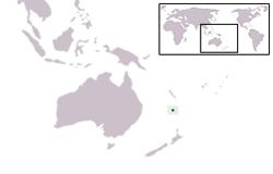 Localisation de l'île Norfolk (en vert) dans la région