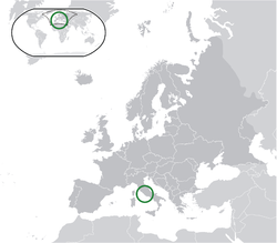 Location of  Vatican City  (green)in Europe  (dark grey)  —  [Legend]