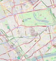 Kensington Palace is located in Kensington