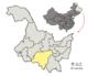 Localisation de la préfecture de Harbin (en jaune)