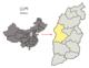 Localisation de la préfecture de Lüliang (en jaune)