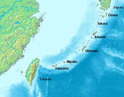 Location of the Ryukyu Islands