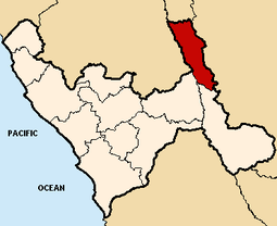 Location of the province Bolivar in La Libertad.png