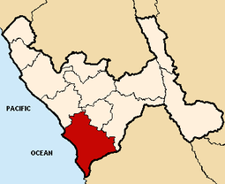 Location of the province Vir in La Libertad.PNG