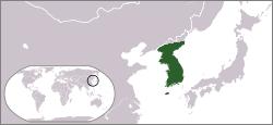 Kart over Kongedømmet GoryeoHangul: 고려국 (고려왕조) Hanja: 高麗國 (高麗王朝)RR: Goryeo MR: Koryŏ