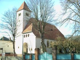 Longeville-lès-Metz, le temple protestant.