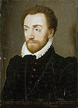 Un portrait de Louis Ier de Bourbon (1530-1569), prince de Condé, seigneur de Nogent-le-Rotrou et chef du parti protestant au début des Guerres de religion.