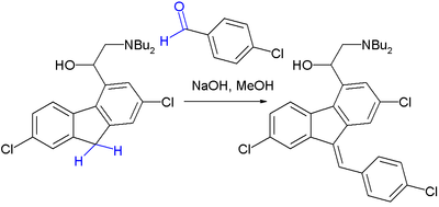 Final step in Lumefantrine synthesis