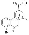 Structure de l'acide lysergique