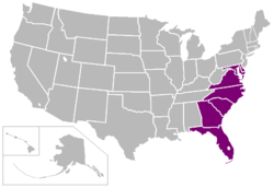 Mid-Eastern Athletic Conference locations