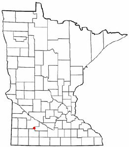 Location of Sanborn, Minnesota