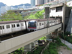 MTR Metro-Cammell Trains access Kowloon Bay Station nearby