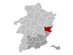 Maasmechelen Limburg Belgium Map.png