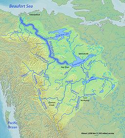 Localización en la cuenca del Mackenzie