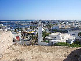 Vue sur le port de Mahdia