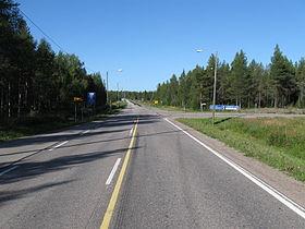 La E63 près de Kemijärvi