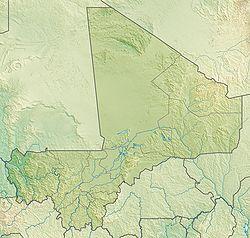 Voir la carte Mali topographique