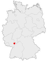 Mannheim na mapě