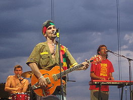 Manu Chao tijdens het Sasquatch Music Festival.
