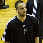 Manu Ginóbili at a training ground