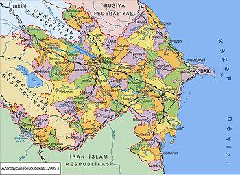 Carte de l'Azerbaïdjan