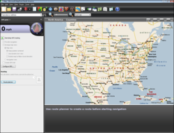 A screenshot of MapPoint 2009