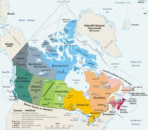 Map of Canada (geopolitical)