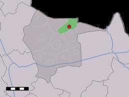 Localisation de Mander dans la commune de Tubbergen
