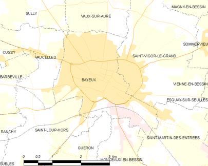 Detailkaart van de gemeente