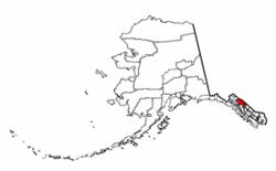 Localización en el estado de Alaska
