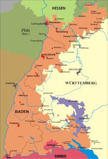 Kaart van situatie in 1806-1945