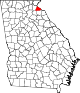 Map of Georgia highlighting Stephens County