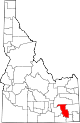 State map highlighting Bannock County