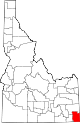 State map highlighting Bear Lake County