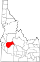 State map highlighting Boise County